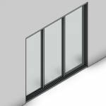 Download CAD files for Signature Sliding Door-3 Panel (166mm)