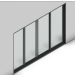 Download CAD files for Signature Sliding Door-4 Panel (166mm)