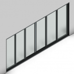 Download CAD files for Signature Sliding Door-6 Panel (166mm)
