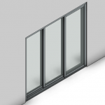 Download CAD files for Signature TB Sliding Door-3 Panel (150mm)