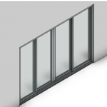 Download CAD files for Signature TB Sliding Door-4 Panel (150mm)