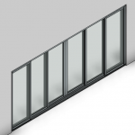 Download CAD files for Signature TB Sliding Door-6 Panel (150mm)