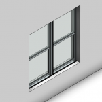 Download CAD files for Essential Double Hung Window (52mm)