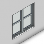 Download CAD files for Signature Double Hung Window (100mm)