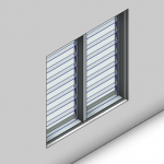 Download CAD files for Signature Louvre Window (125mm)