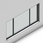 Download CAD files for Essential Sliding Window-3 Panel (52mm)