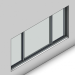 Download CAD files for Signature Sliding Window-3 Panel (100mm)