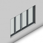 Download CAD files for Signature Sliding Window-4 Panel (100mm)