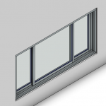 Download CAD files for Signature Sliding Window-3 Panel (67mm)
