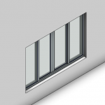 Download CAD files for Signature Sliding Window-4 Panel (67mm)