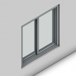 Download CAD files for Signature TB Sliding Window-2 Panel (150mm)