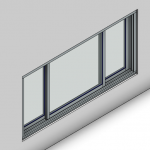 Download CAD files for Signature TB Sliding Window-3 Panel (150mm)