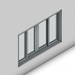 Download CAD files for Signature TB Sliding Window-4 Panel (150mm)