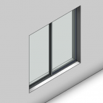 Download CAD files for Essential Sliding Window-2 Panel (52mm)