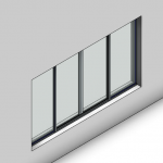 Download CAD files for Essential Sliding Window-4 Panel (52mm)