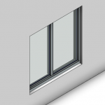 Download CAD files for Signature Sliding Window-2 Panel (100mm)