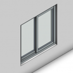 Download CAD files for Signature TB Sliding Window-2 Panel (100mm)
