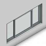 Download CAD files for Signature TB Sliding Window-3 Panel (100mm)