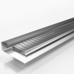 Download CAD files for Tile Flange Drainage System-SS Grate-Made To Length