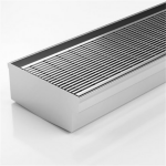 Download CAD files for Bifold Threshold Drain-SS Grate