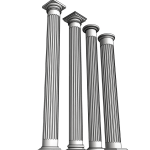 Download CAD files for Uni-Shape Fluted Round Column