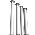Download CAD files for Uni-Shape Straight Round Column