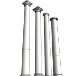 Download CAD files for Uni-Shape Tapered Round Column