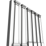 Download CAD files for Uni-Shape Tapered Square Pilaster