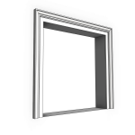Download CAD files for Uni-Shape Window Architrave 2058