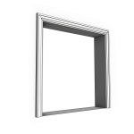 Download CAD files for Uni-Shape Window Architrave 3052