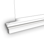 Download CAD files for Uni-Shape Window Sill 2071 with Reveal
