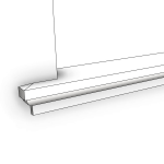 Download CAD files for Uni-Shape Window Sill 2072 with Reveal