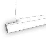 Download CAD files for Uni-Shape Window Sill 2074 with Reveal