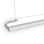 Download CAD files for Uni-Shape Window Sill 2075 with Reveal