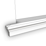 Download CAD files for Uni-Shape Window Sill 2071