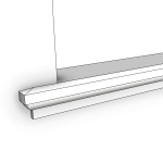 Download CAD files for Uni-Shape Window Sill 2072