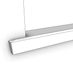 Download CAD files for Uni-Shape Window Sill 2074
