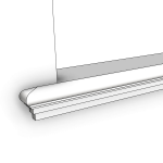 Download CAD files for Uni-Shape Window Sill 2075