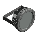 Download CAD files for Floodlight – EVL80 (Wall Mounted)