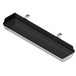 Download CAD files for Linear Light – EXEL-L (Ceiling Mounted)